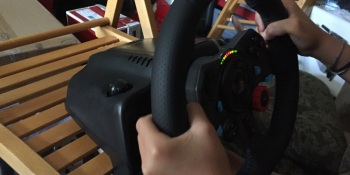 A racing wheel makes driving sims — and learning to drive — much more realistic