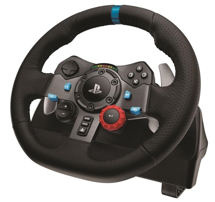 Logitech G29 force feedback racing wheel.