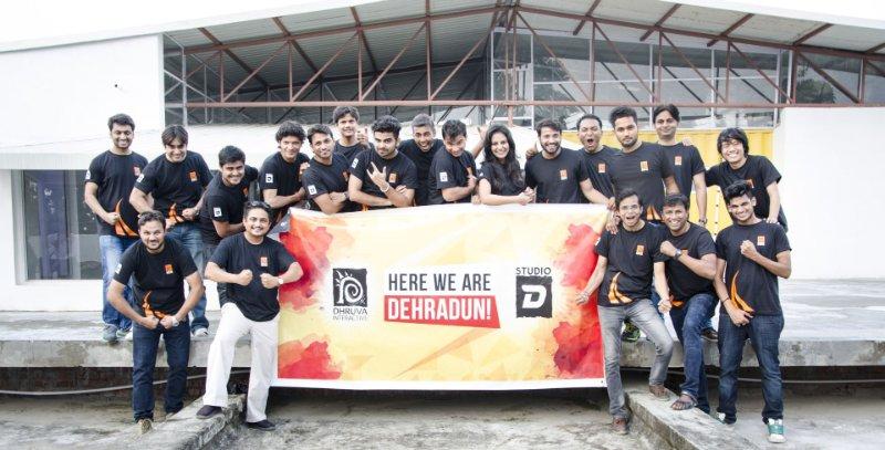 Team members from Dhruva's new game studio.