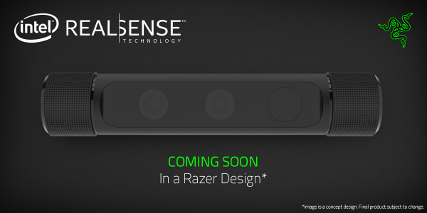 Razer will do its own version of the Intel RealSense camera.