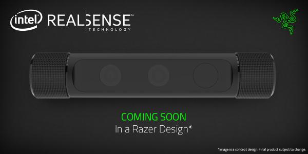 Razer will do its own version of the Intel RealSense camera.