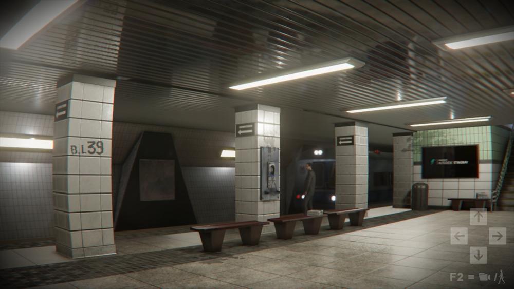 A subway scene
