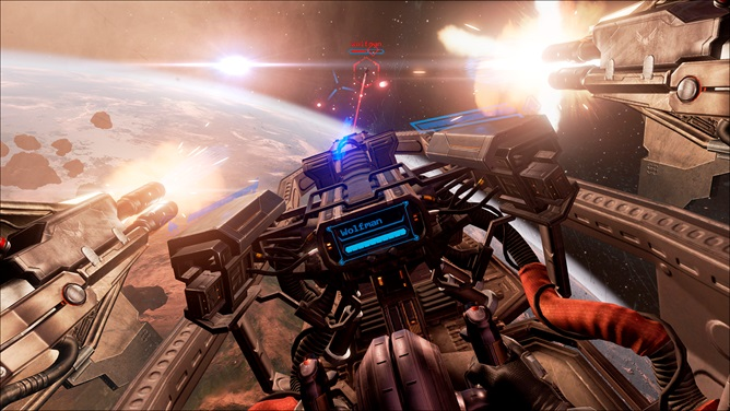 CCP's Eve Valkyrie is a virtual reality title, built with Unreal Engine 4.