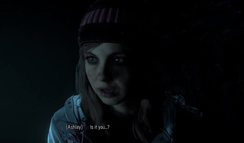Ashley hears something in the tunnel in Until Dawn.
