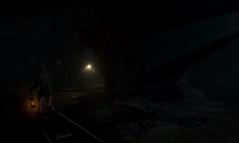 Jessica wanders the mine in Until Dawn.