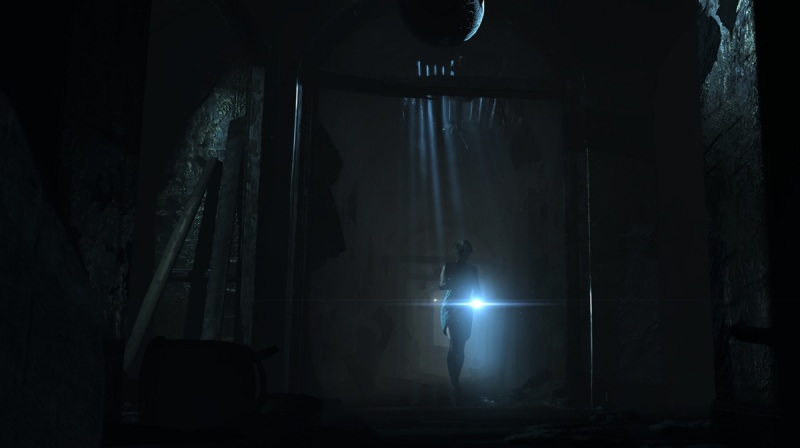 Yes, it's time to run. A scene from Until Dawn, where Samantha confronts a creepy guy.