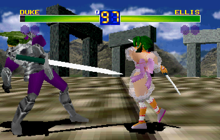 Battle Arena Toshinden was a 3D fighter about ninjas or something.