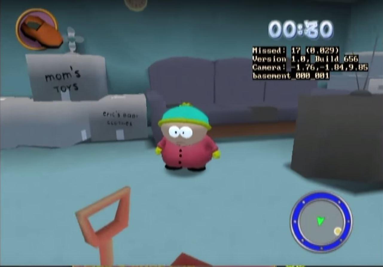 Inside Cartman's house.