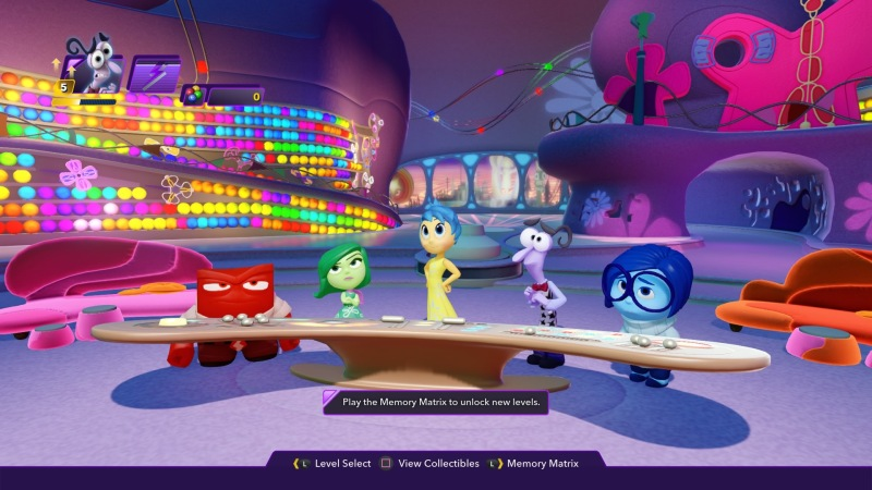 The characters from Inside Out in Disney Infinity 3.0.