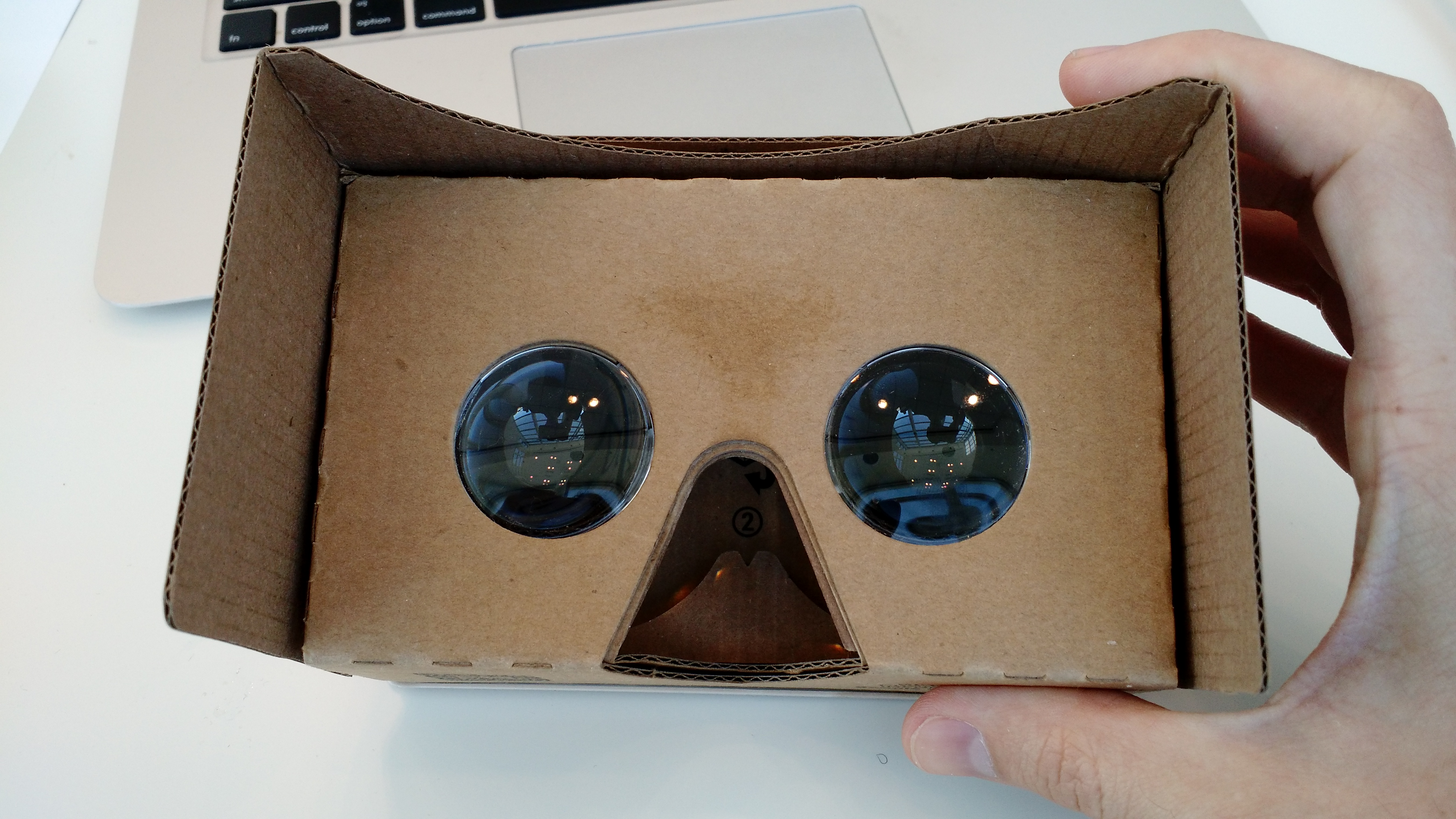 Google Cardboard v2, given out at the 2015 Google I/O conference in San Francisco.