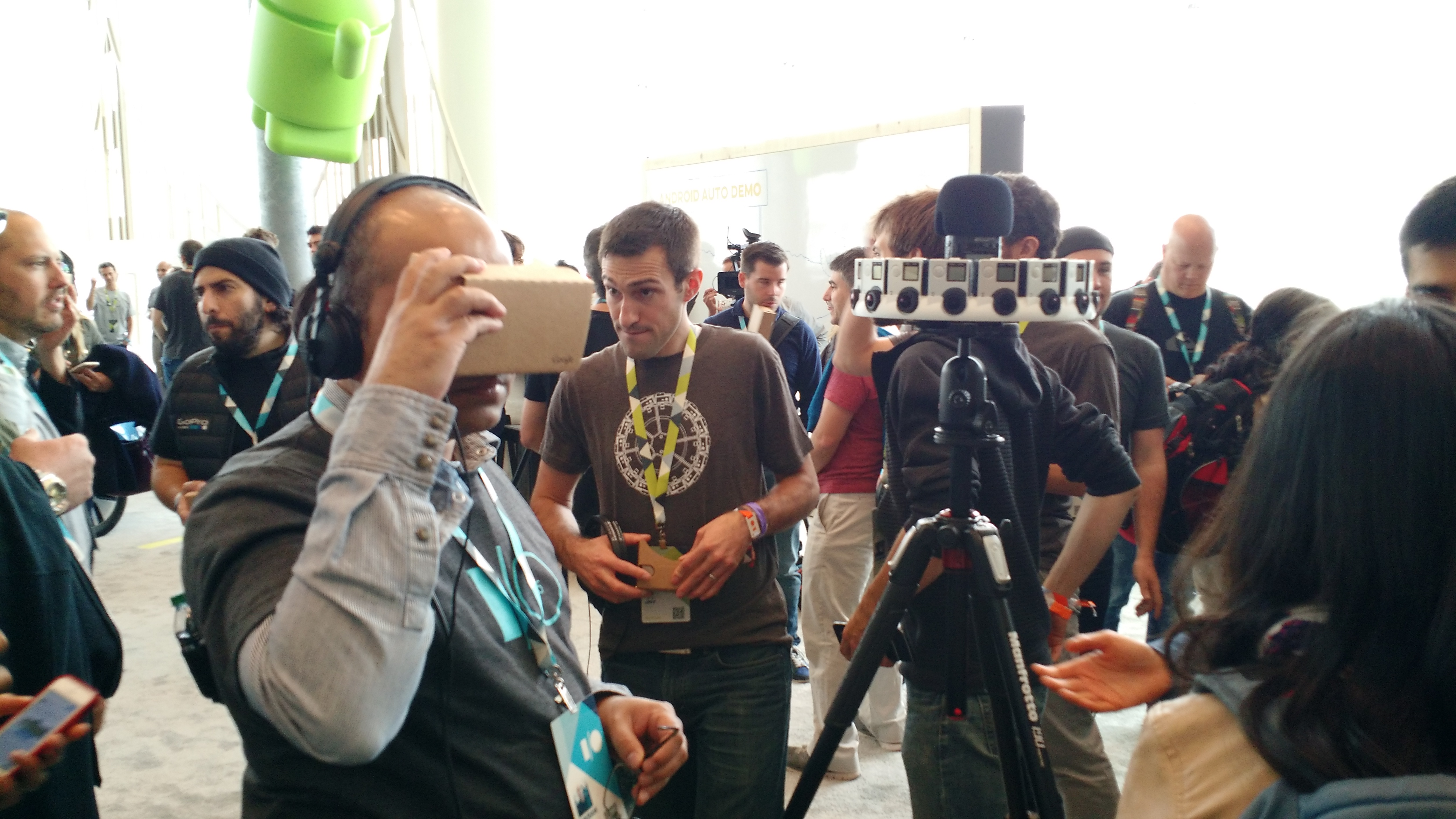The GoPro Odyssey rig at the Google I/O conference in San Francisco on May 28.