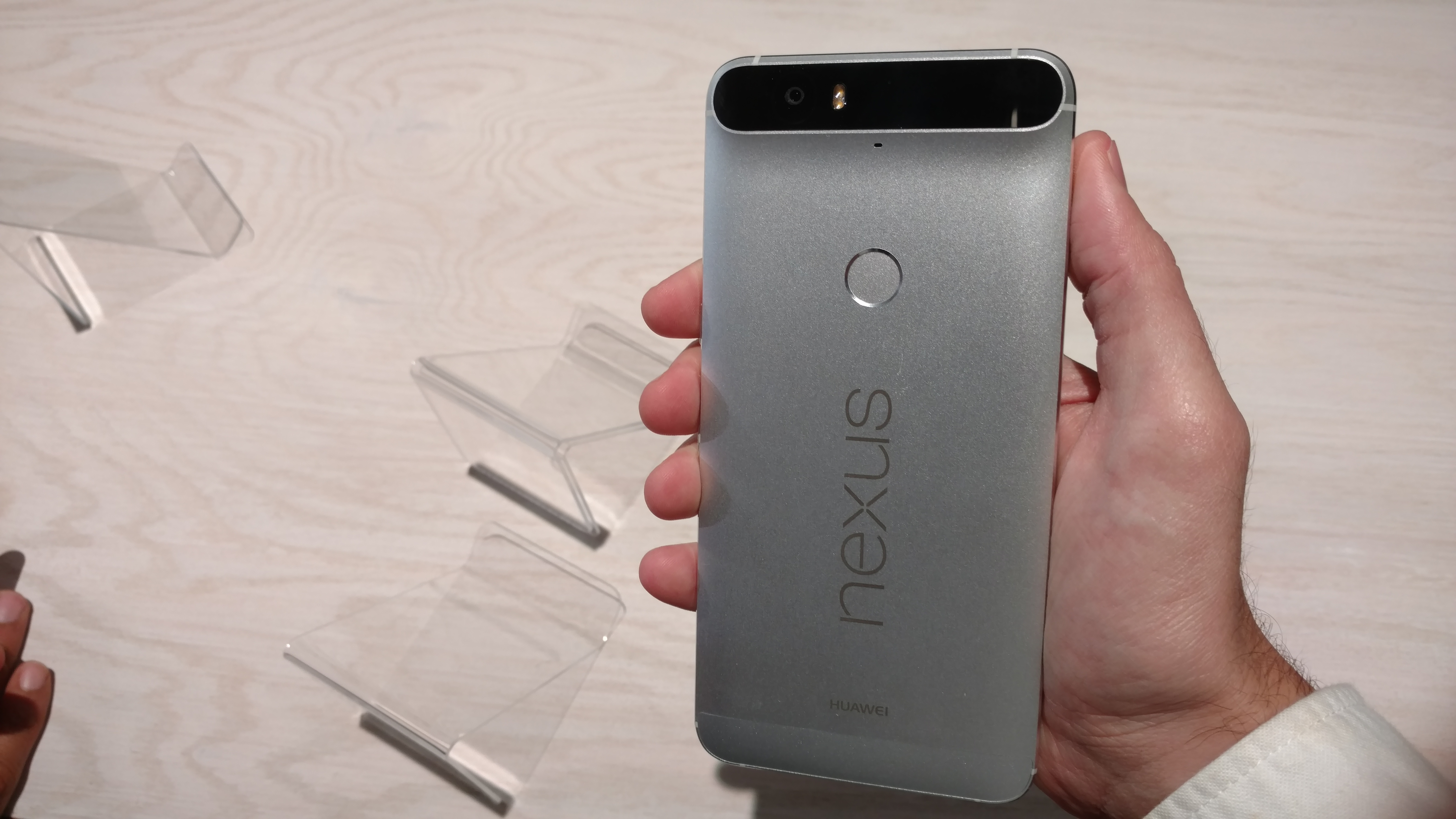 The back of Huawei's Nexus 6P.