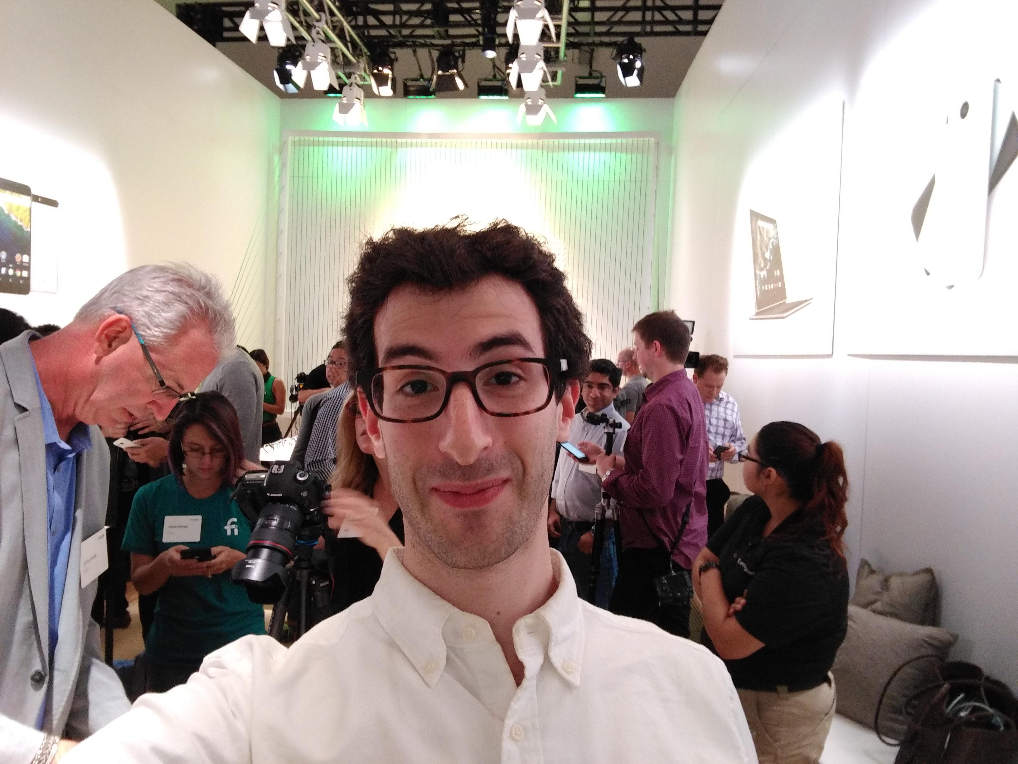 A selfie on Huawei's Nexus 6P.