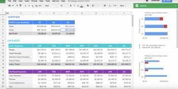 Google Docs gets Google search integration, speech recognition, and automatic chart generation