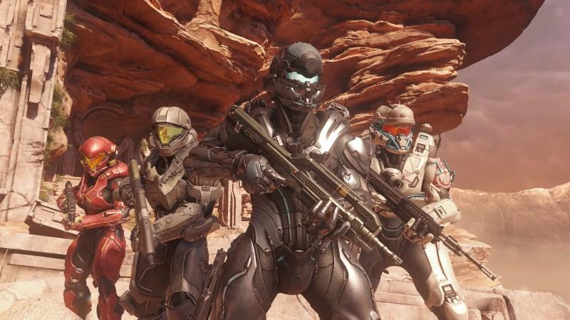 Locke's Team Osiris in the Enemy Lines battle in Halo 5: Guardians.