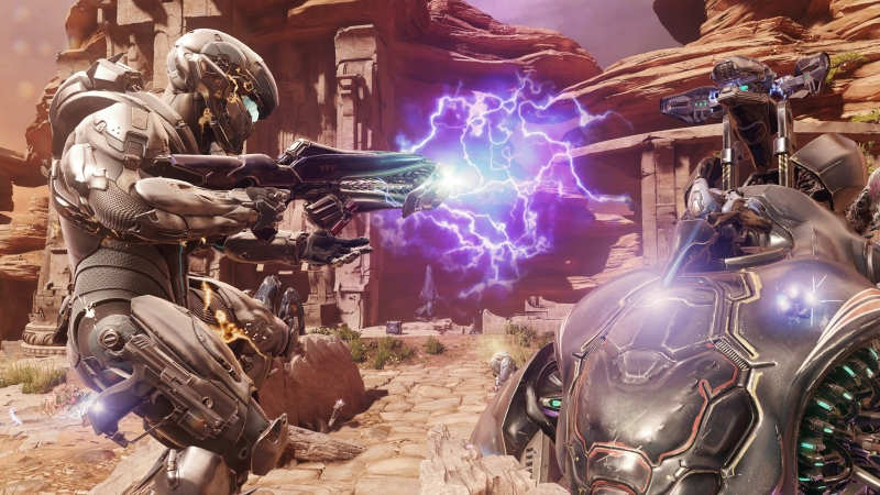Locke's Team Osiris engages with Wraith in Halo 5: Guardians.