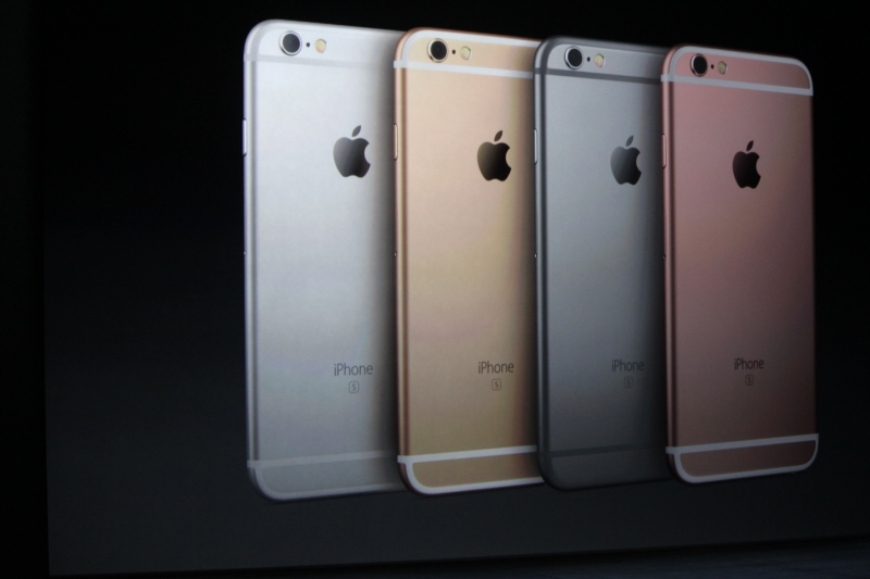 The colors of the new phones.