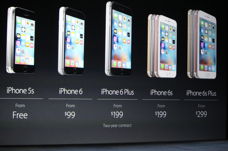 Apple's current iPhone line-up.