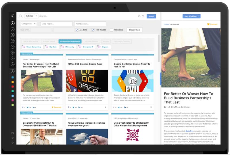 Content marketing via NewsCred