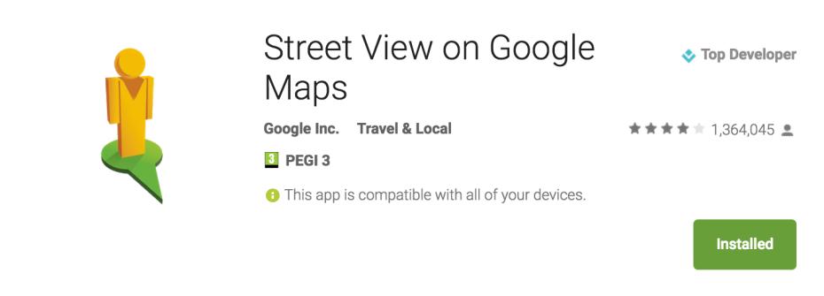 Google's new Street View standalone app