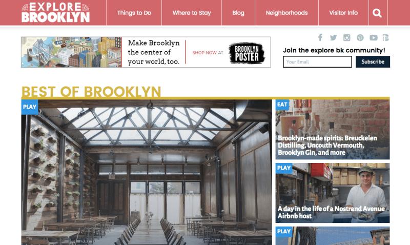 Explore Brooklyn website