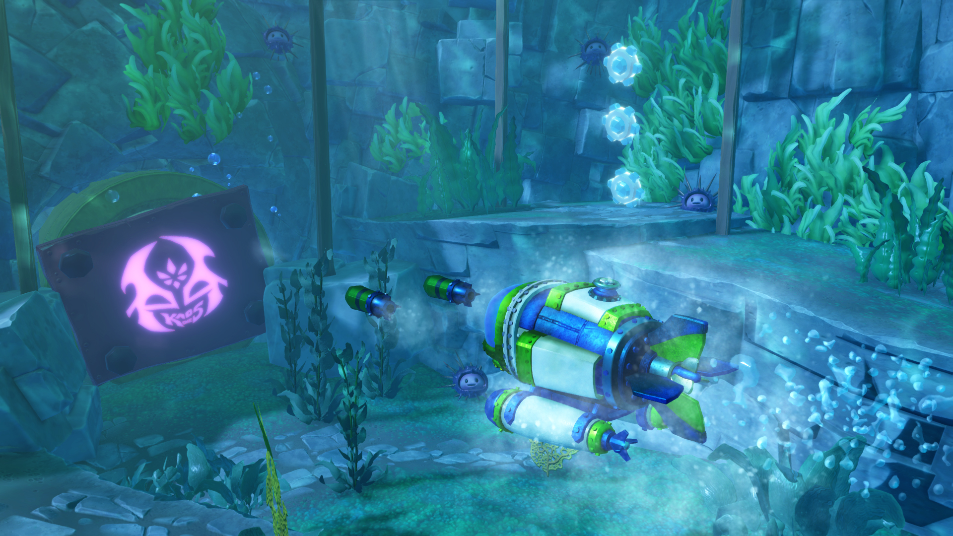 The sea vehicles can even travel underwater.