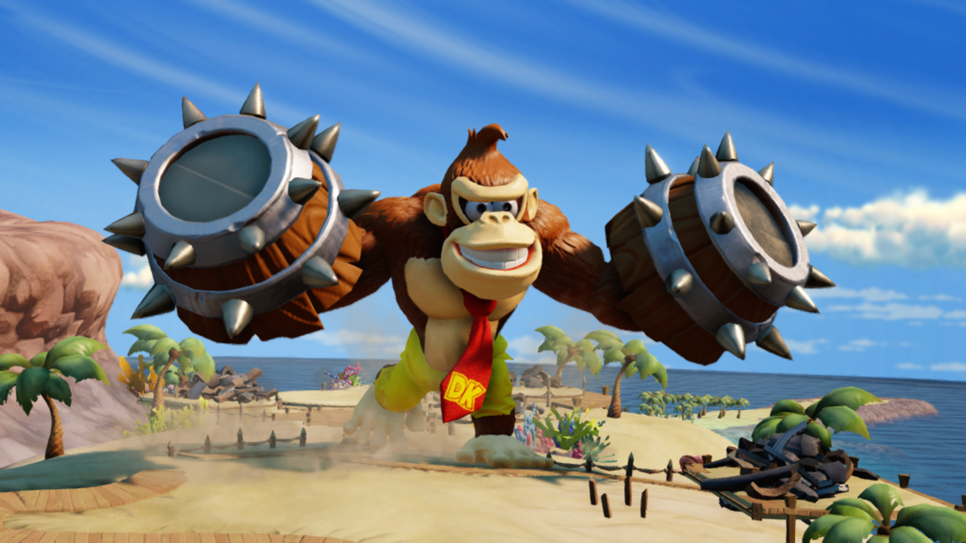 Maybe we could ask this Wii U exclusive Donkey Kong character to smash some of the bugs for us.