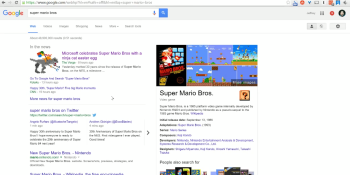 Searching for 'Super Mario Bros.' on Google reveals new Easter egg