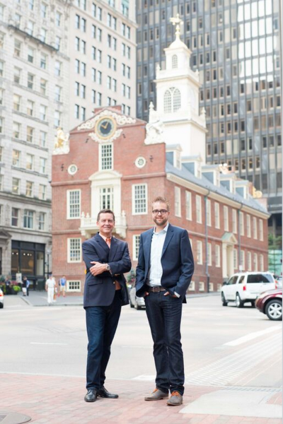 Thomas Erickson, Acquia CEO, left, and Dries Buytaert, CTO.
