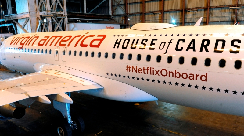Netflix and Virgin America Plane