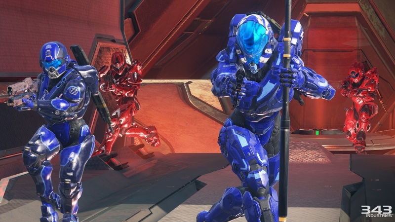 Arena mode on the Coliseum map in Halo 5: Guardians.