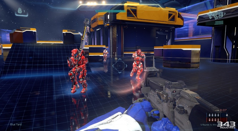 Crossfire map in Arena mode multiplayer for Halo 5: Guardians.