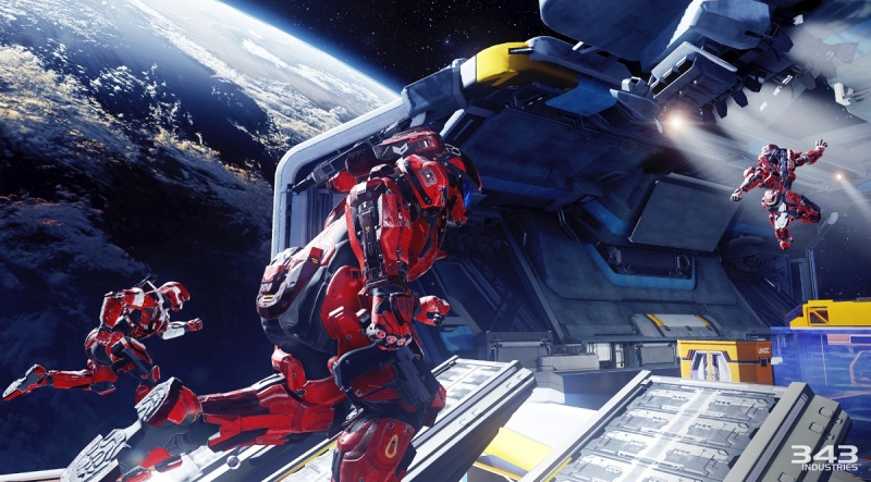 Halo 5: Guardians multiplayer Arena mode, Crossfire map.