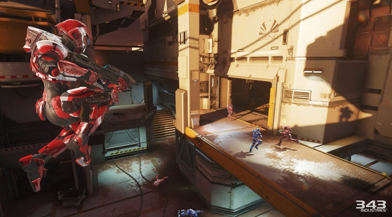 In the Rig map in Arena mode in Halo 5: Guardians multiplayer.