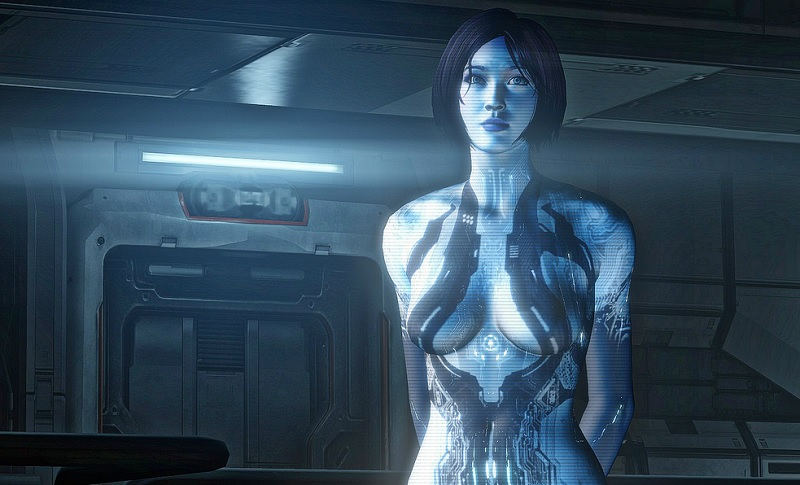 Cortana, the AI character, was much more sexualized in Halo 4 than in previous games.