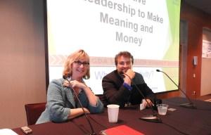 Megan Gaiser of Contagious Creativity and Daniel Bernstein of Corum Group.
