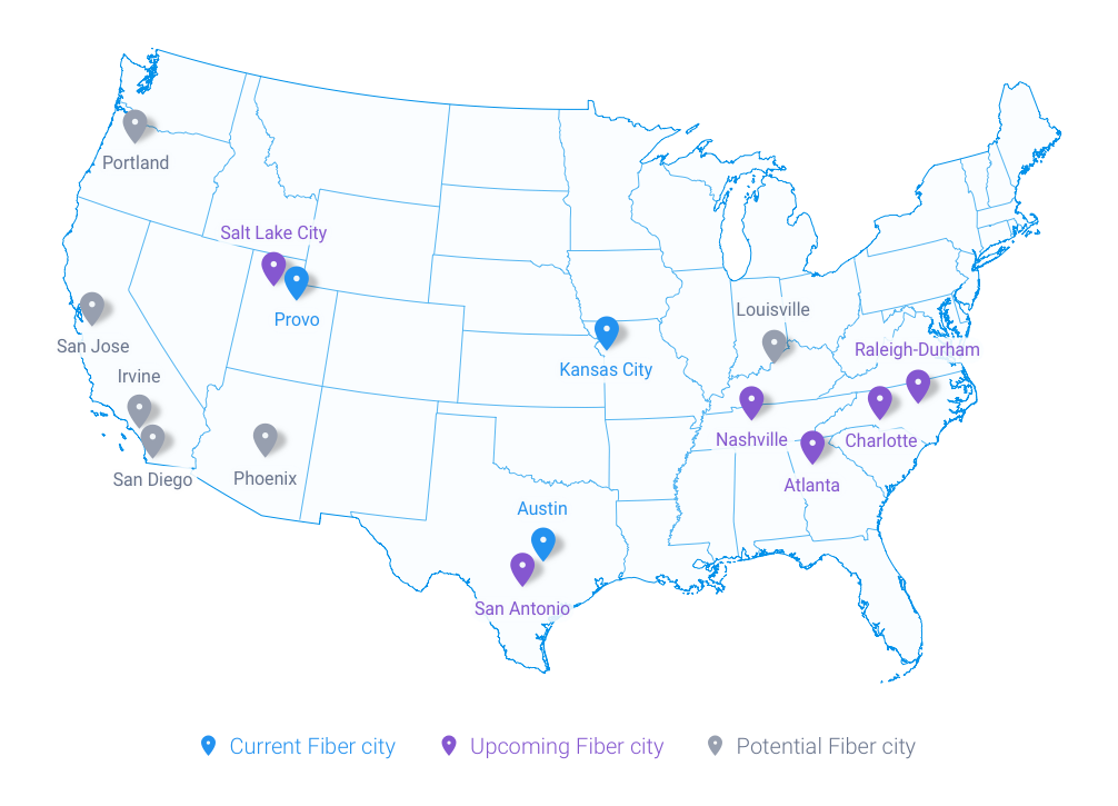 Google Fiber Targets Three More Cities Irvine Louisville