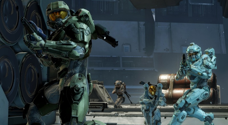 Blue team on the watch in Halo 5: Guardians.