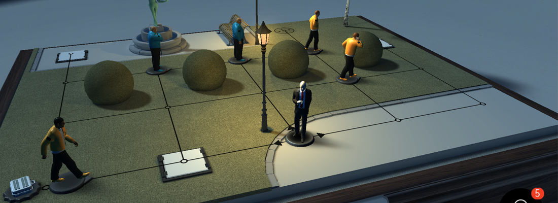 Hitman Go board
