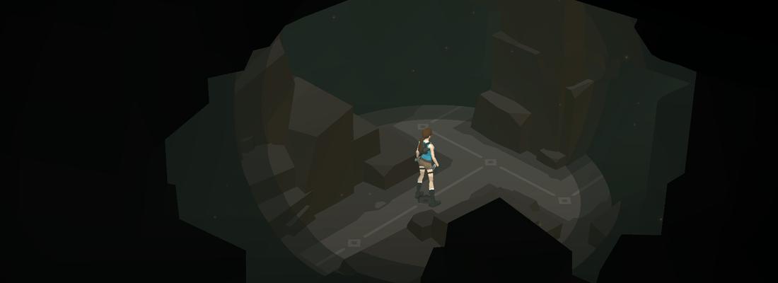 Lara Croft Go dark cave