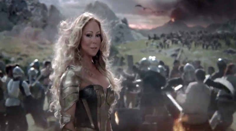 Mariah Carey in Game of War: Fire Age ad