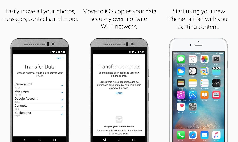 Move to iOS: app de iOS en Google Play