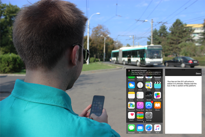 Beacons lend a helping hand to visually impaired bus