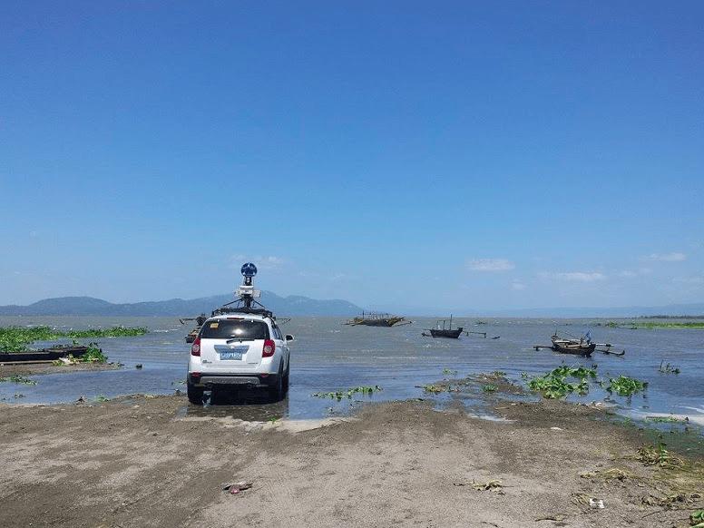 The sea in Barangay Linga in Laguna at low-tide.