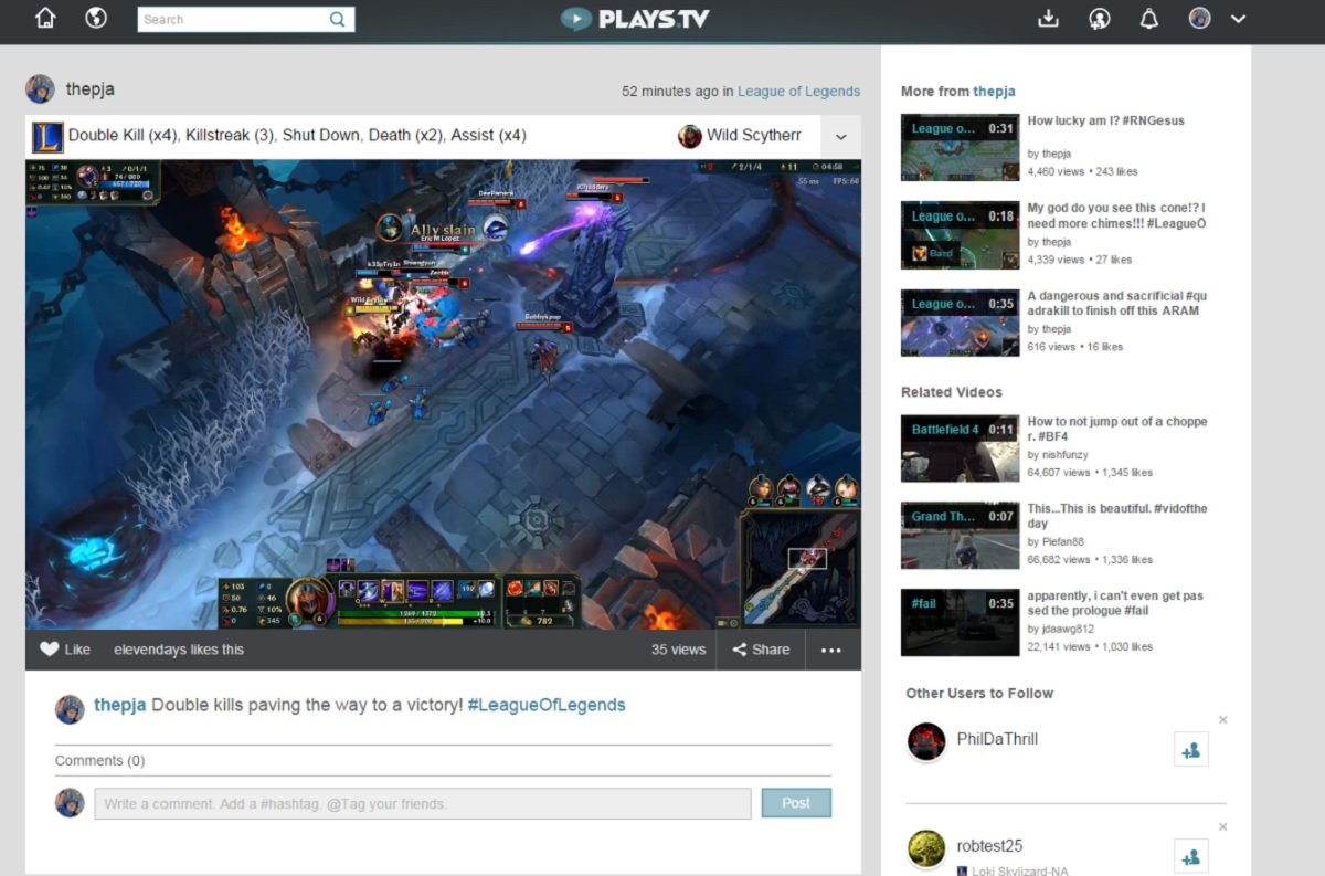Raptr's Plays tv makes it easy to make highlight videos from