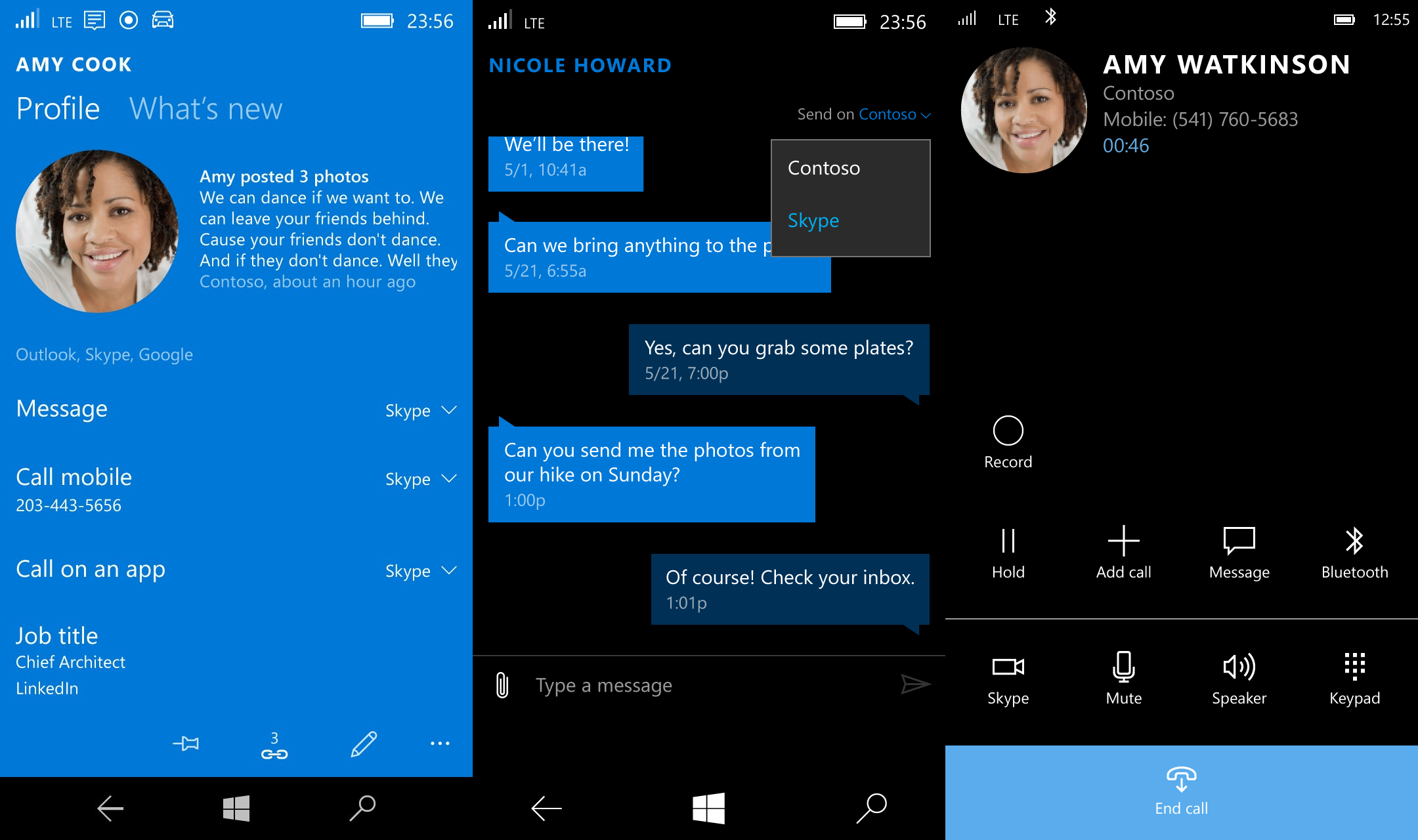 how to make video call on windows mobile