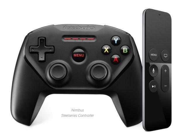 SteelSeries Nimbus controller for Apple TV.