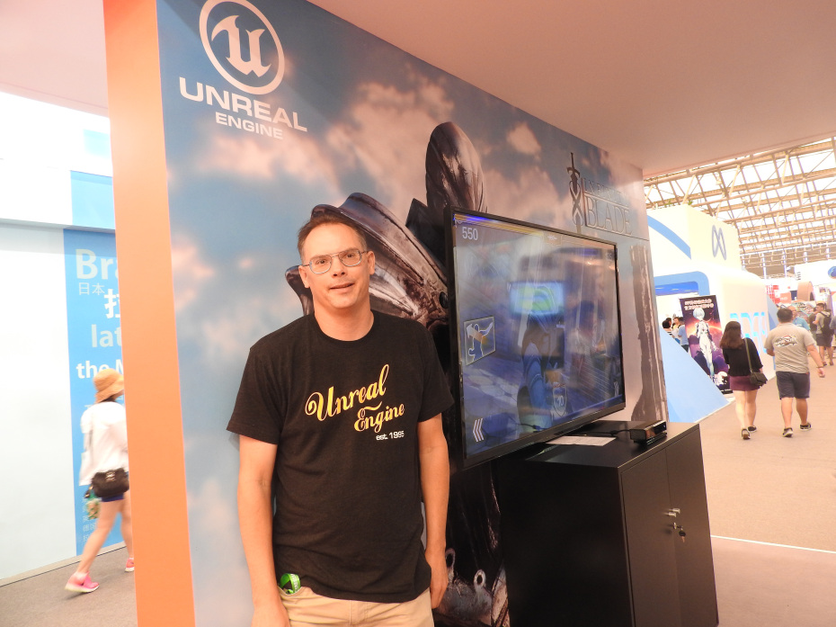 Tim Sweeney, CEO of Epic Games, after a talk on the future of games at ChinaJoy 2015.