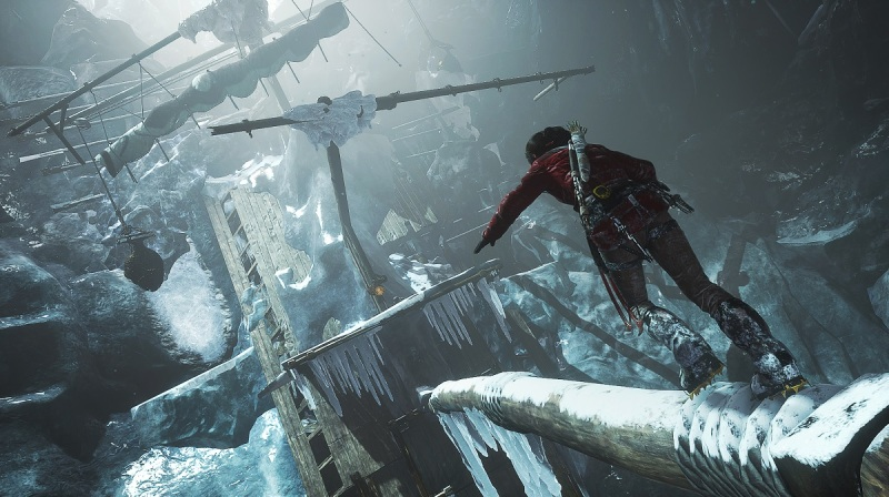 Lara Croft finds a tomb in Rise of the Tomb Raider.