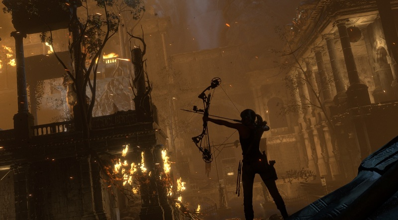 Lara Croft has her bow again in Rise of the Tomb Raider.